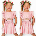 baby girl dresses boutique - US Boutique Kids Baby Girl Rufle Sleeveless Dress Clothes Outfit Sundress Summer
