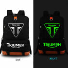 TRIUMPH MOTORCYCLE Logo Backpack Men Boys Travel Rucksack School Bags{D33} $32.99 USD on eBay