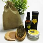 Beard Balm Natural Oil Conditioner Beard Care Moustache Wax Men Grooming Kit #WS