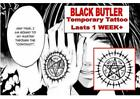 BLACK BUTLER contract cosplay anime TATTOO temporary  waterproof last 1 WEEK+