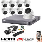 4/8 Channel Hikvision 5MP DS-2CE56H1T-IT3 CCTV Dome DVR Home Security System Kit