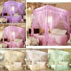 Home Decor 4 Corner Post Bed Canopy Mosquito Net King Queen Double Twin Netting image