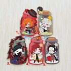 Hot Japan Anime Bungo Stray Dogs Fridge Magnet Rubber Keychain Pendant FL320