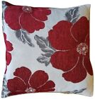 """LUXURY Polyester Chenille Floral Printed Cushion Covers 18"""" Cover Colour Choice,"""