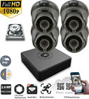 Hikvision HiWatch CCTV 4 CH 1080P 2MP 4 Camera Dome P2P Home Security System Kit