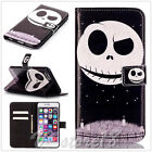 Black Ghost Oil painting relief flip card wallet leather case for Various phone