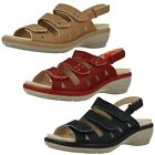 Ladies Easy B Removeable Insole Open Toe Riptape Leather Flower Sandals Penny