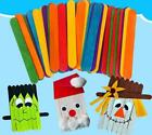 NEW Kindergarten Wood Craft Sticks Colorful Sticks Ice Cream Sticks For DIYCraft