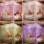 Princess 4 Corners Bed Curtain Canopy Mosquito Netting Poster Net No Frame(Post) image