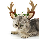 Christmas Fawn Horn Headband Deer Antler Hair Hoop for Dog Cat Pet Party S/M/L