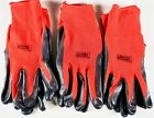 Grease Monkey Nitrile Coated Grip Work Gloves Latex-Free, 3, 6 or 15 Pairs
