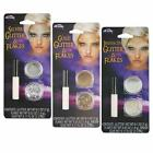 Glitter Flakes Face Eyes Costume Makeup Kit Gold Silver Iridescent Unicorn Fairy