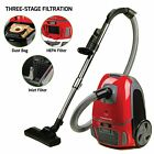 Ovente ST1600 Canister Vacuum Cleaner with Tri-Level Filtration RB photo