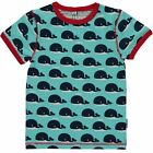 Maxomorra TOP SS Whale T-Shirt Kurzarm Alloverprint