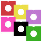 "50 x Coloured 7"" Vinyl LP Sleeves Multi Colour Record Holder Card Protector Pack"