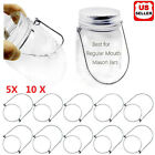 5 10 x Mason Jar Hanger Stainless Steel Wire Handles For Outdoor Decoration USA