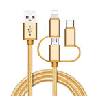 High Speed Fast Charging USB Charger Cable data sync for iPhone Android 3 in 1