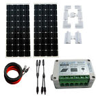 200W Mono Solar Panel System 12V battery Charge w/ Controller Caravan Home Camp