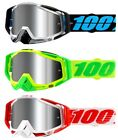 100% Racecraft Plus Goggles with Silver Flash Mirror Lenses All Frame Colors