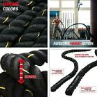 "Battle Rope - Exercise Fitness Undulation Ropes - 1.5""/2"" 30/40/50ft Length opt"
