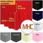 """Plain Fitted Valance Sheet Extra Deep Frill 40cm 16"""" Single 4Ft Double King Size image"""