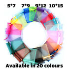 Organza Gift Bags Luxury Jewellery Pouch Xmas Wedding Party Candy Favour Uk