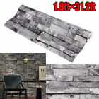 3D Vintage Wall Paper Brick Stone Effect Rolling Wallpaper Room Decor US