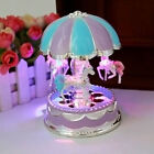 Vintage Romantic Musical Carousel Horse Merry Go Round Music Box With LED Light