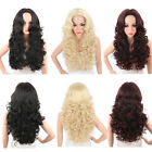 Womens Synthetic Curly Long Hair Wigs Full Cap Wig Black Brown Red Colors USA