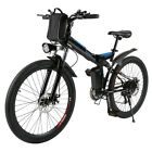 250W Power E-Bike 26 Inch Folding Electric Bicycle Bike Shimano 6-Speed-Gear USA