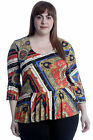 New Womens Plus Size Top Ladies Peplum Frill Bell Sleeve Tunic Blouse Chain Key