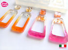Clear silicone resin mold geometric shapes jewelry crafts earrings pendant