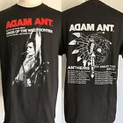 "ADAM ANT (2017) ""Anthems"" Concert Tour Dates Warrior Logo Black T-Shirt S/M/L/XL image"