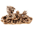 Old China Alloy Dragon Figurine Artwork Arts and Crafts Statue Home Decor image