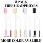 2in1 Lightning to 3.5mm Headphone Jack Adapter Mailgram For iPhone 7,8,X 2 Pack