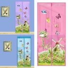 Внешний вид - Cute Cartoon Instant Mesh Screen Net Door Magnetic Anti Mosquito Bug Fly Curtain
