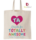 Personalised Thank You Teacher Gift Cotton Tote Bag- TA -Teaching Assistant