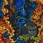 FLAMING BLUE DEMONS HYDROGRAPHIC WATER TRANSFER HYDRO FILM DIP APE