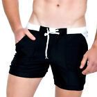 Taddlee Men's Swimwear Solid Long Swim Boxer Trunks Black Surf Shorts Swimsuits