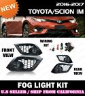 [complete] FOG LIGHT KIT for TOYOTA 16-18 iM COROLLA (w/ switch+wiring+covers) $78.88 USD on eBay