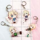 1pc Violet Evergarden Anime Cute Acrylic Pendant Keychain Key Rings Charm