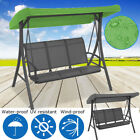 """3 Seater Waterproof Garden Swing Chair Spare Canopy Patio Cover 75""""x47""""x9"""""""