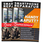 2 x Smarphone Handy Reparatur iPhone Poster/Plakate DIN A1 Werbung Kundenstopper