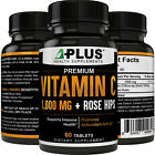 HIGH QUALITY - Vitamin C 1,000 MG + Rose Hips, Fast Acting! Fights Free Radicals