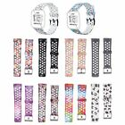 Patterned Sport Silicone Wristband Watch Band Strap Bracelets for Fitbit Versa