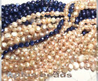 16in. Freshwater Pearl potato beads 8-9mm assorted colors