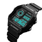SKMEI Mens Digital Watch Sport Countdown Alarm Luminous Waterproof Wristwatch US image