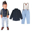 Jungen Kinder Gentleman Anzug Mantel Hemd T-shirt Hosen Jeans Outfits Party Sets