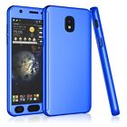 For Samsung Galaxy J3 Star/J3 Achieve Full Protective Case Cover +Tempered Glass