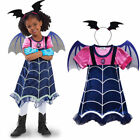 Vampirina Cosplay Costume Girls Kids Party Halloween Dress Wings + Headwear